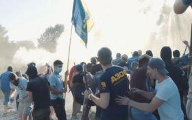 Побоїще в Києві: з'явилися нові фото зі скандального будівництва