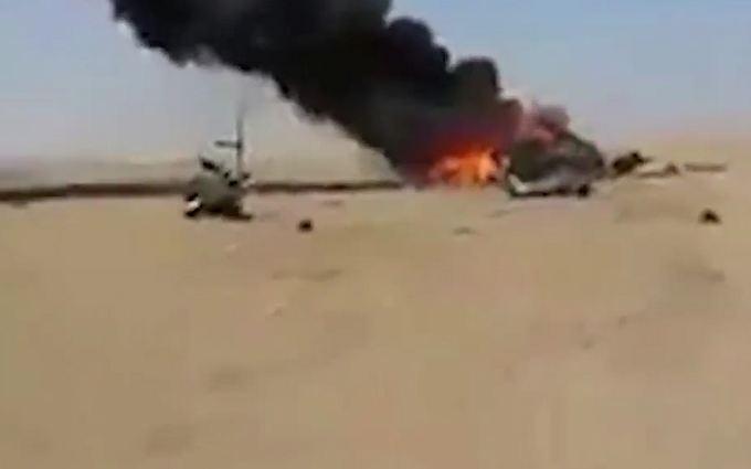 Збитий в Сирії російський вертоліт: з'явилися перші відео
