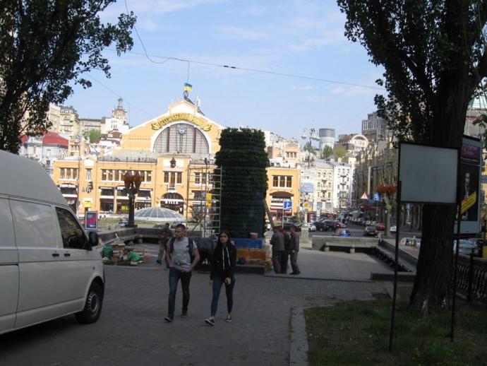 У Києві на місці пам'ятника Леніну з'явилась композиція рослин: опубліковано фото (4)