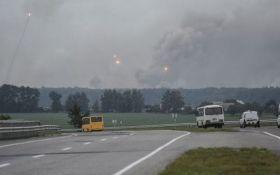 Взрывы и пламя в Калиновке: появилось зрелищное видео с воздуха
