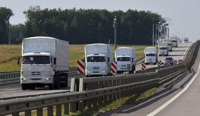 На Донбасс пришли 27 грузовиков гумпомощи от международных организаций