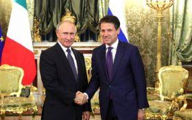 Вимагаю скасувати санкції: прем'єр-міністр Італії шокував заявою після зустрічі з Путіним