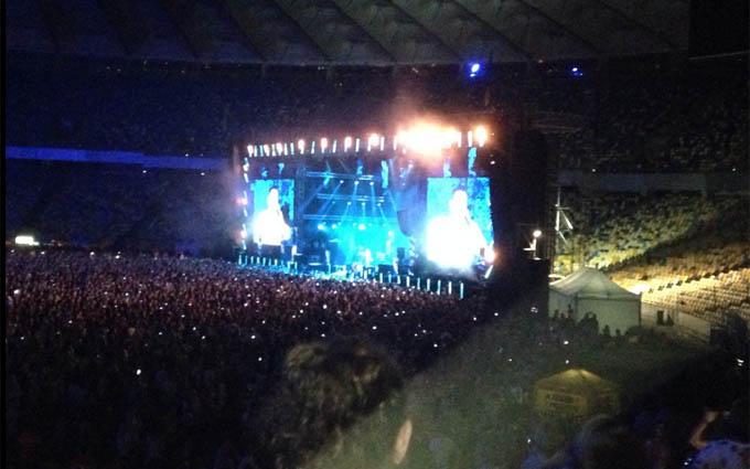 Грандіозний концерт «Океану Ельзи» пройшов в Києві: опубліковані фото і відео (2)