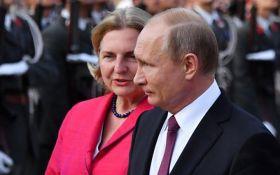 Вызывает грустную улыбку: в МИД Украины отреагировали на визит Путина на свадьбу в Австрию