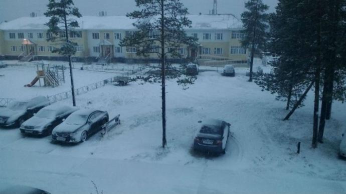 У Росії в перший день літа випав сніг: з'явилися фото і відео (1)