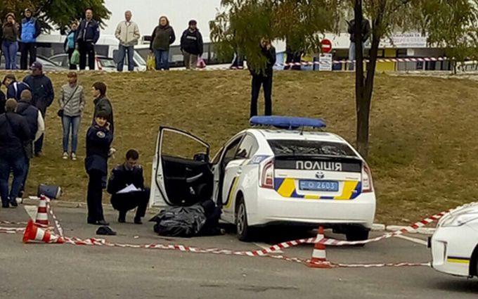 Вбивство поліцейського в Дніпрі: з'явилося відео моменту злочину