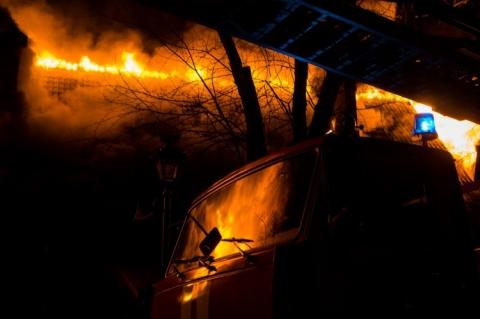 В Киеве горел офис коммунистов