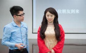 У Китаї створили робота-жінку для спілкування з людьми, яка провалила всі запитання інтерв'ю