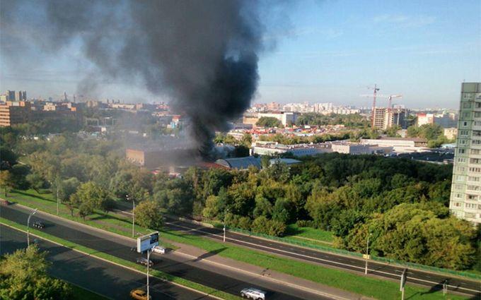 У Москві спалахнула масштабна пожежа, багато загиблих: з'явилося відео