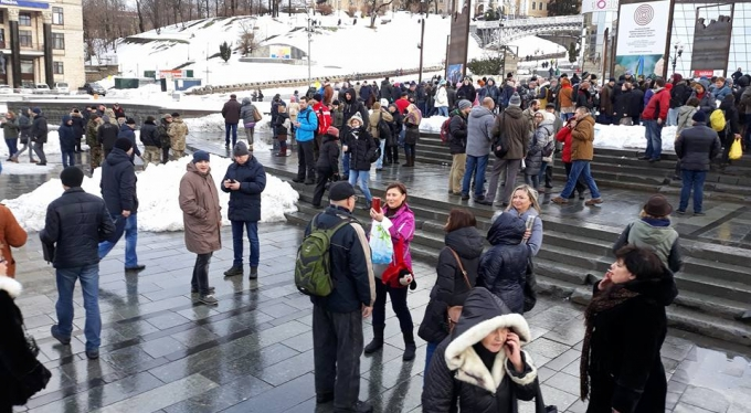 """Кофе на Крещатике"": появились фото и видео акции в центре Киева (3)"