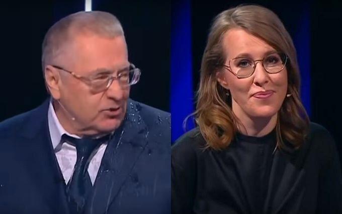 Собчак и Жириновский устроили матерные дебаты на росТВ: появилось видео