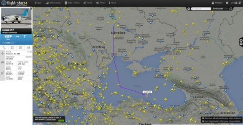 Порошенко по дорозі в Казахстан, старанно обігнув територію Криму і РФ (1)