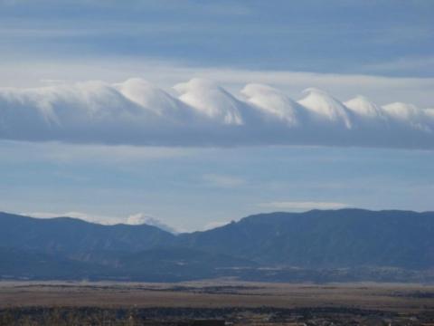 Волноподобные облака Кельвина-Гельмгольца (17 фото) (9)