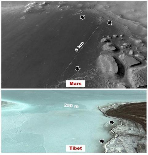 Опубликованы фото ранее обитаемого озера на Марсе (1)