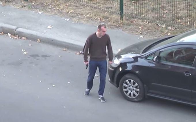 З'явилося відео затримання стрілка на вулиці Києва
