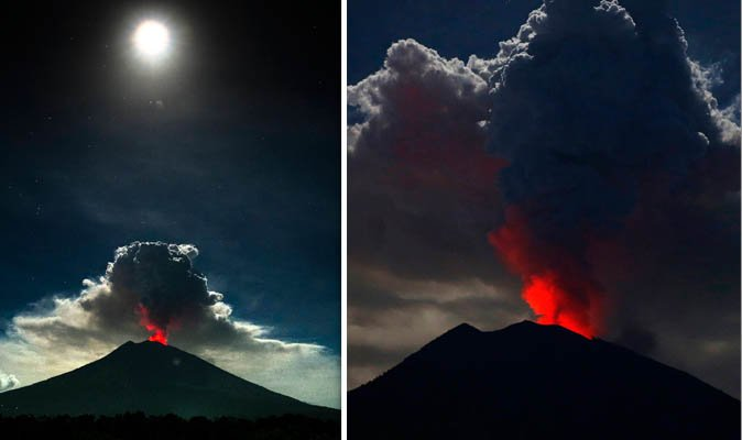 На Бали с новой силой разбушевался вулкан Агунг: появились жуткие фото и видео (1)