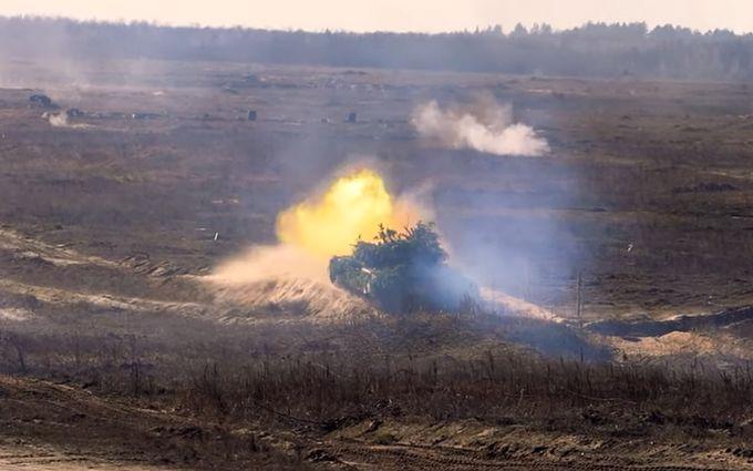 Украинские танкисты активно готовятся к наступлению на Донбассе: зрелищное видео