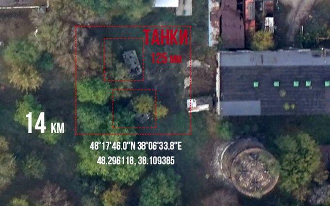 """""""Замаскувалися"""": розвідка знайшла і сфотографувала нові танки бойовиків ДНР"""