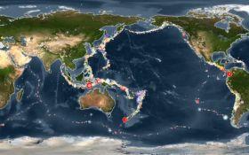 Все землетрясения за последние 15 лет показали в 45-секундном видео