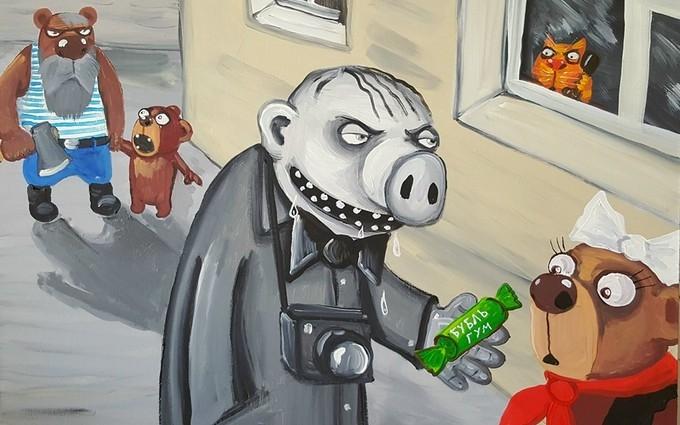 Известный художник высмеял отношение россиян к иностранцам: появилась картина
