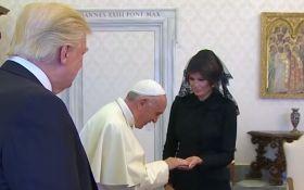 Папа Римский и Мелания Трамп поговорили о еде президента США