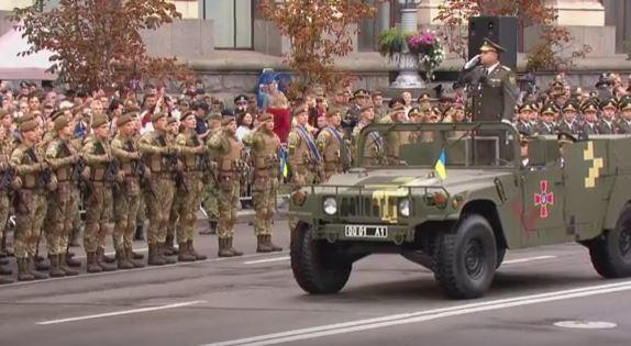 Военный парад в Киеве: полное видео (4)