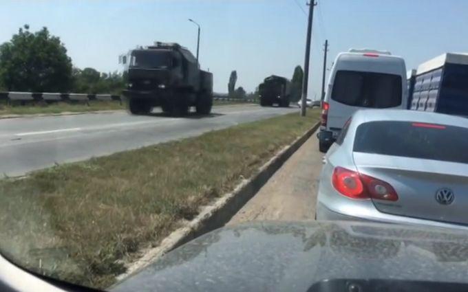 Російська техніка в окупованому Криму: з'явилося нове відео