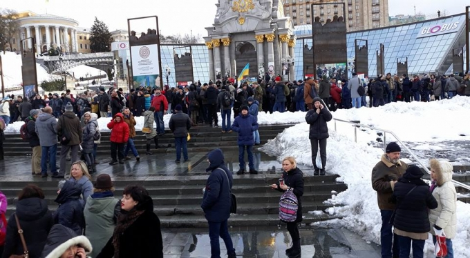 """Кофе на Крещатике"": появились фото и видео акции в центре Киева (1)"