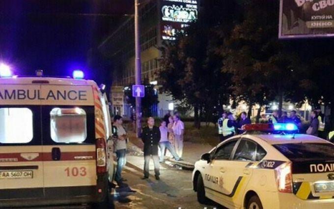 ДТП з поліцією в Києві: з'явилося відео моменту аварії