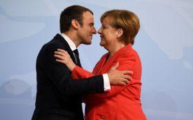 """""""Всі знають про їх роман"""": Меркель переплутали з дружиною Макрона"""