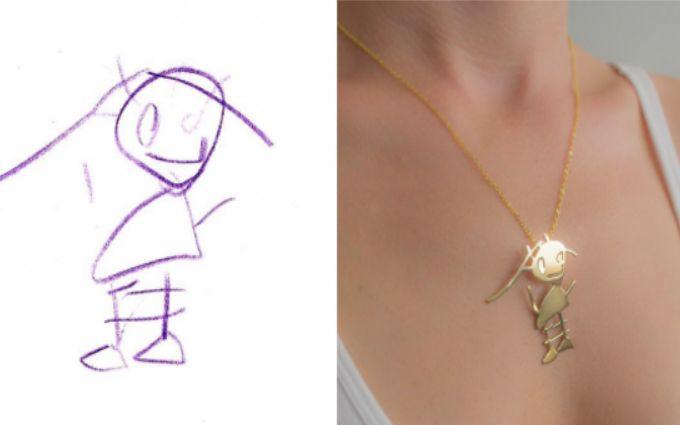 Не так страшна мама, как ее рисуют: фото удивительных украшений по эскизам детей