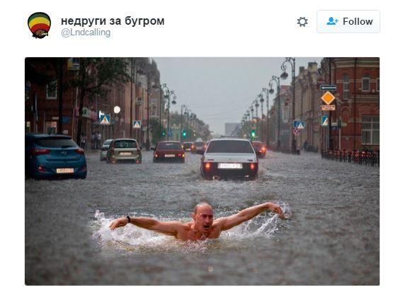 Покруче вашої Венеції: соцмережі вирують через затоплену Москву (4)