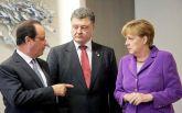 Порошенко обговорив з Меркель і Олландом три важливі теми