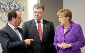 Порошенко обсудил с Меркель и Олландом три важных темы