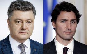 Порошенко і Трюдо обговорили ситуацію на Донбасі та співробітництво між Україною і Канадою