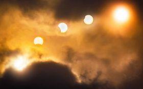 Як пройшло повне сонячне затемнення 2020 року - вражаючі фото вогняного кільця