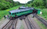 Железнодорожную аварию в Хмельницкой показали с высоты птичьего полета