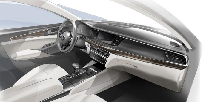 Компанія Kia розсекретила седан Cadenza нового покоління (2)