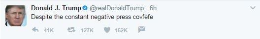 Трамп знову повеселив мережу загадковим повідомленням у Twitter (1)