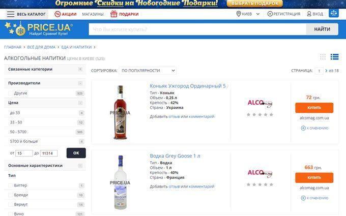 Алкогольные напитки: шесть популярных брендов