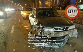 Полицейская погоня с ДТП в Киеве: появилось видео с места событий