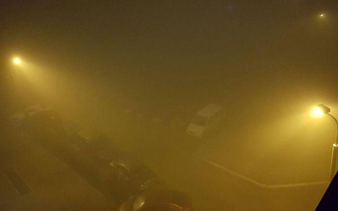 ВКГГА пояснили причину густого тумана вКиеве