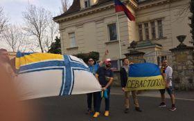 В Хорватии украинцев задержали за акцию перед посольством России: появились фото