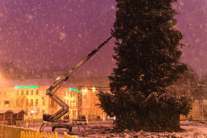 Больше не лысая: в сети появились новые фото главной елки Украины (1)