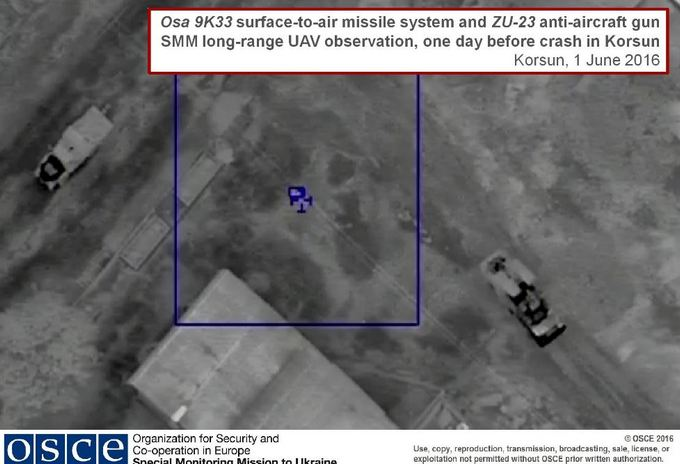 ОБСЄ показала ще одне фото обстрілу своїх безпілотників бойовиками (1)