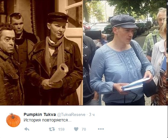 Соцмережі розвеселило фото Савченко в кашкеті (1)