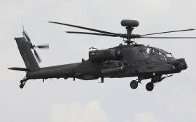 Возле школы в Японии разбился военный вертолет
