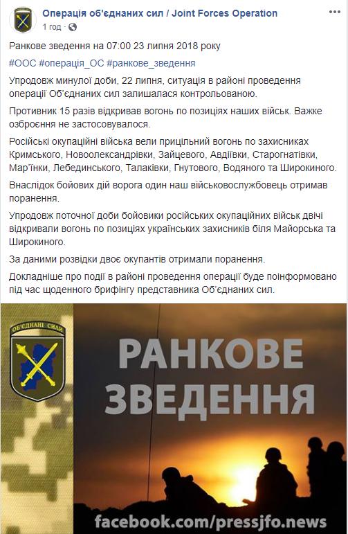 На Донбасі тривають інтенсивні бої: серед українських бійців є поранені (1)