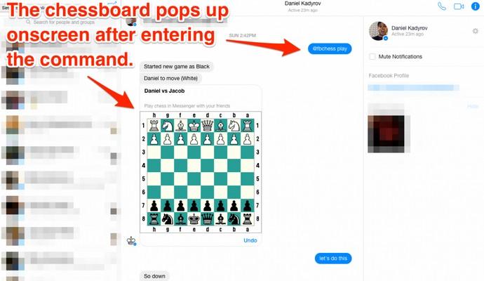 Игра в шахматы - новая тайная функция Facebook