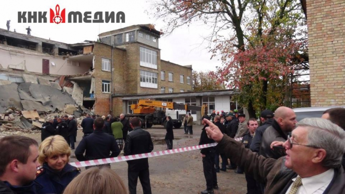 Обвал школи під Києвом: з'явилися нові фото, відео і несподівані деталі (1)